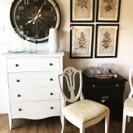 Painted furniture and botanical artwork❤️